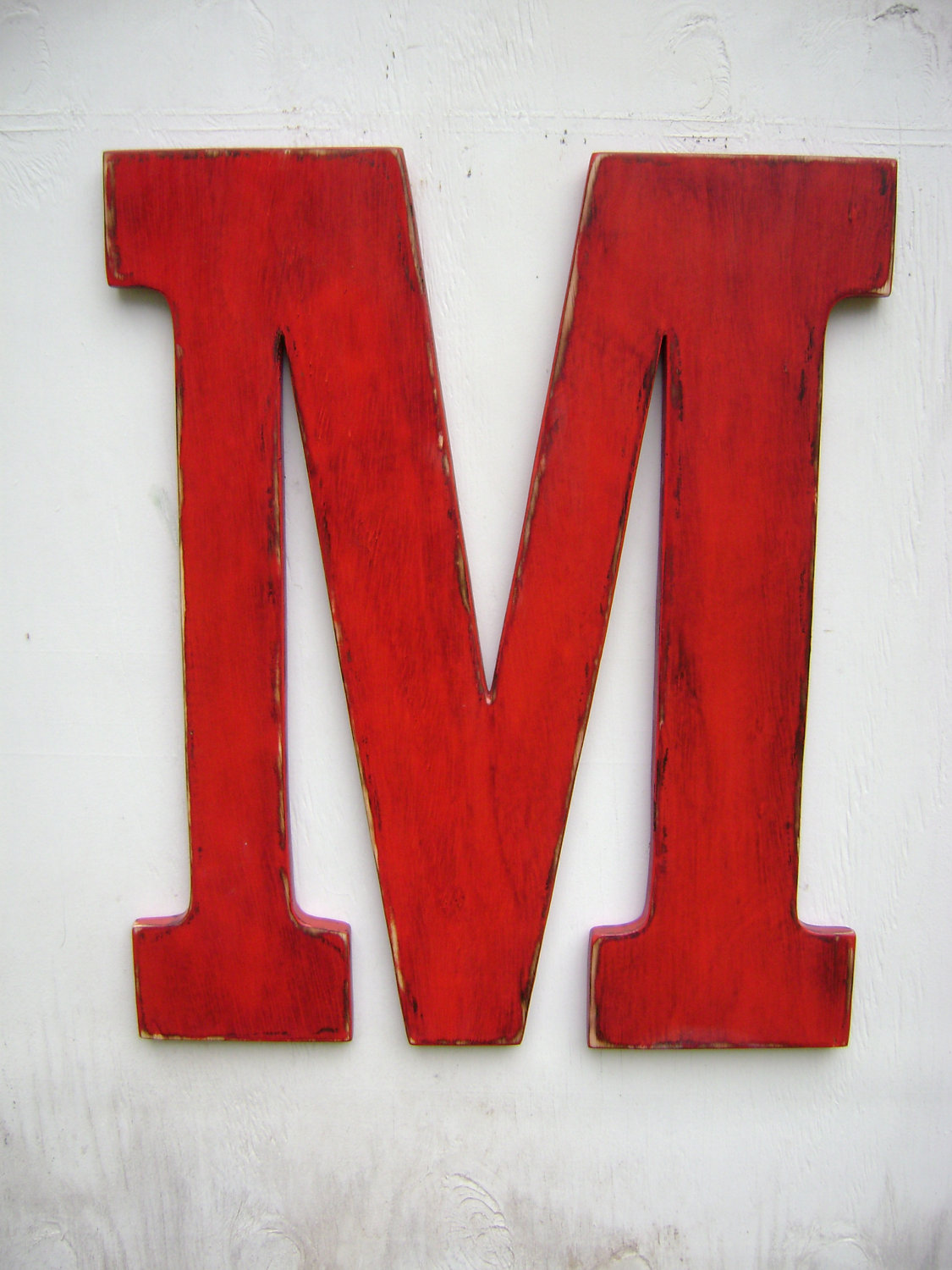 Letter M Wedding Decor Shabby Chic Rustic 24 Inch Wooden Letters Home Cottage