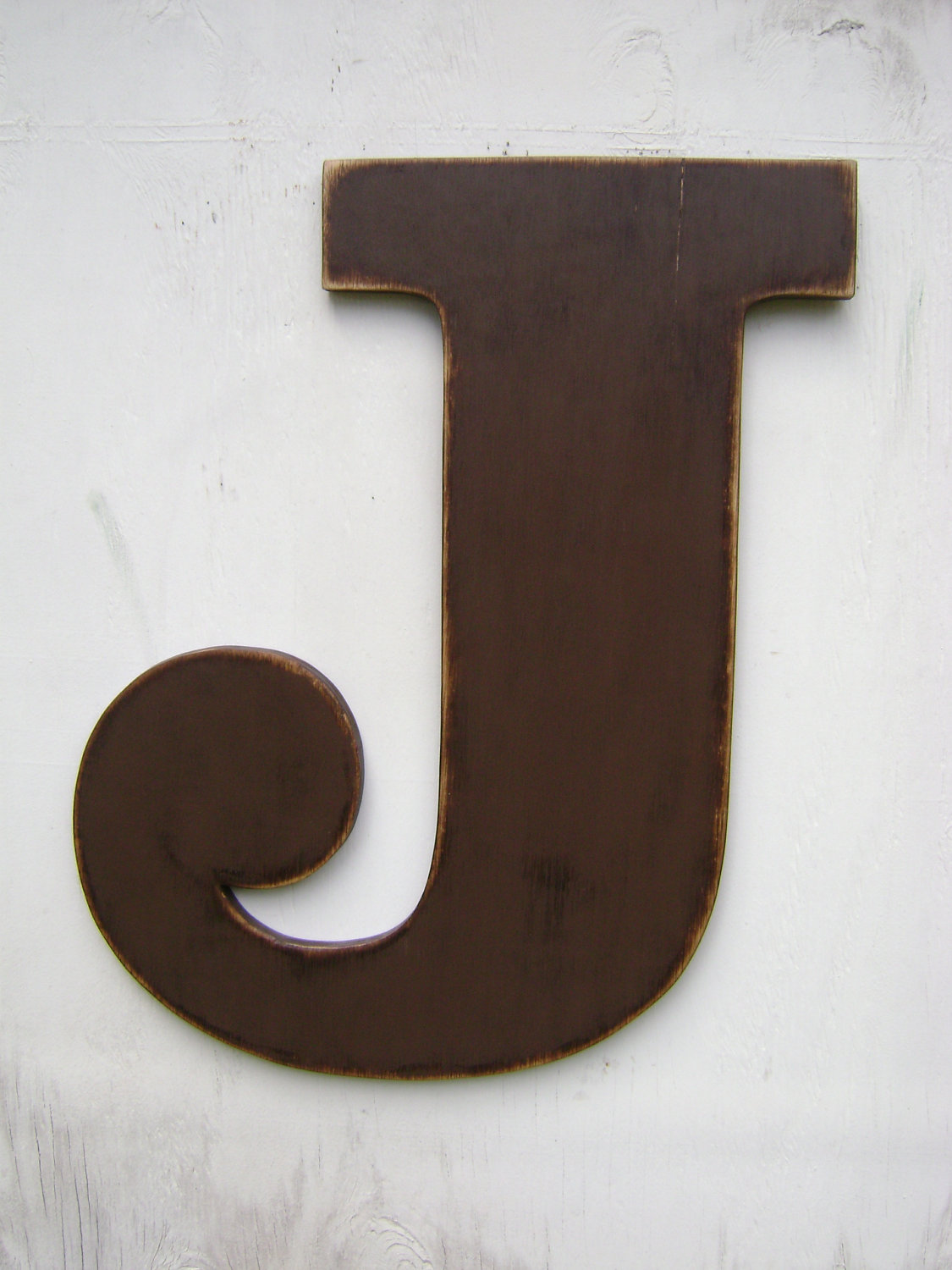 "Large Letter J For Wall Large Wood Wall Letter ""j"" Letter Sign24"" Wall Hanging Or Shelf"